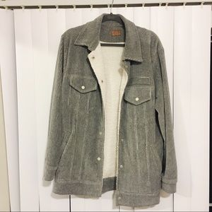 {Poll} corduroy button up jacket